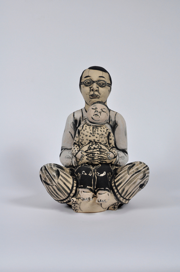 Akio Takamori Figure with Child in Lap undated 2