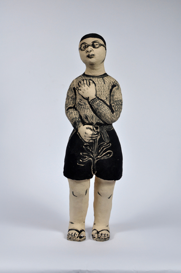 Akio Takamori Figure with Glasses undated 2