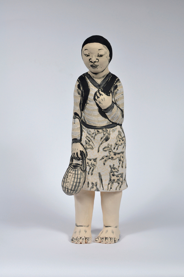 Akio Takamori Girl in Deer Dress undated 2