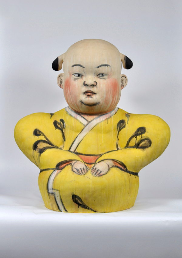 Akio Takamori Seated Man in Yellow Robe undated 2