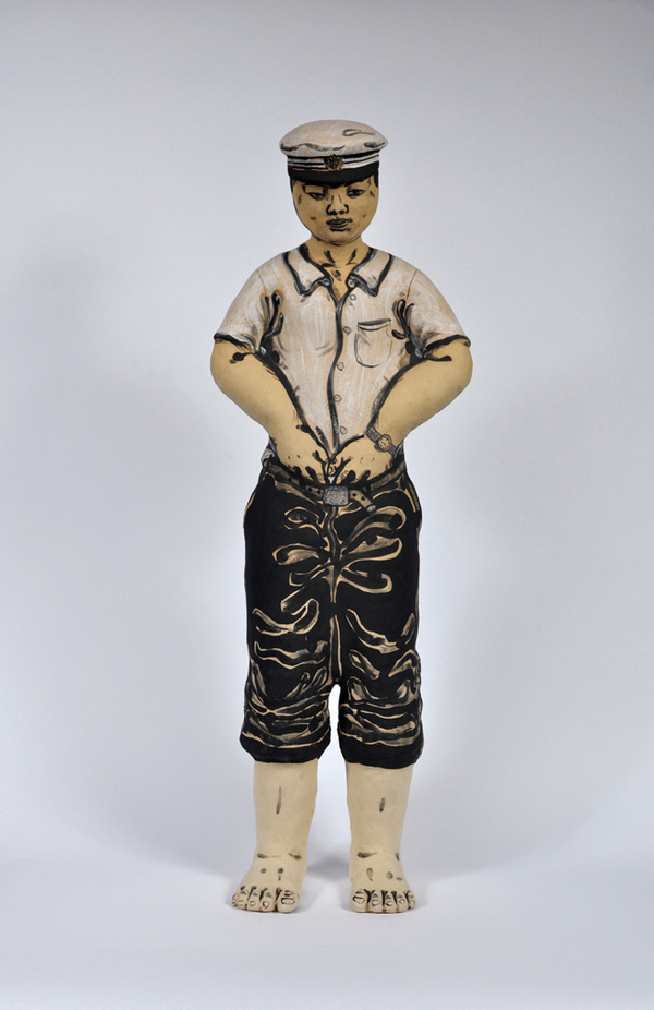 Akio Takamori Standing Figure in Military Uniform undated 2